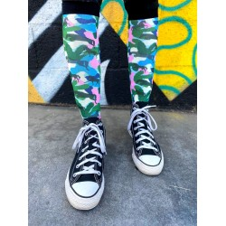 Dreamers & Schemers  - Camo Horse Socks