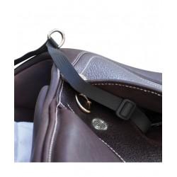 Stirrup strap attachment for Airbag vest